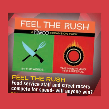 Fiasco: Feel The Rush Expansion Pack board game
