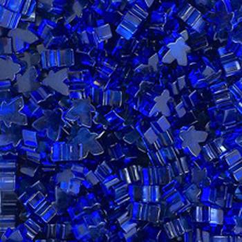 Transparent Acrylic Mini Meeples 12mm (10pcs): Blue board game