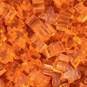 Transparent Acrylic Meeples 16mm (10pcs): Orange board game