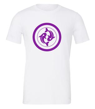 Scythe: T-shirt - Togawa Shogunate (White with Purple Logo) board game