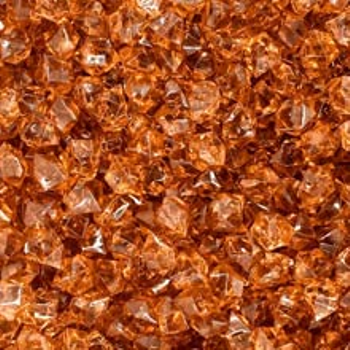 Brown (Translucent) Acrylic Gems (Small) board game