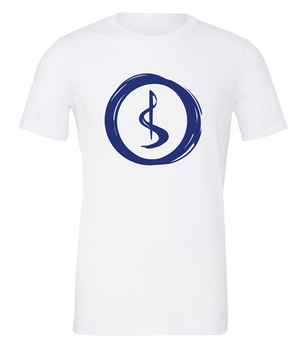 Charterstone: T-Shirt - Blue Charter (White with Blue Logo) board game