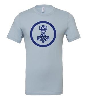 Scythe: Nordic Kingdoms (Light Blue T-Shirt with Blue Logo)