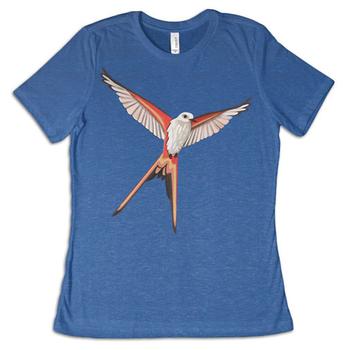 Wingspan: T-shirt - Scissor-Tailed Flycatcher, Royal Blue
