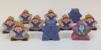 """Ultimate Werewolf """"On-the-Go"""" Character Meeple Set (10 pcs)"""