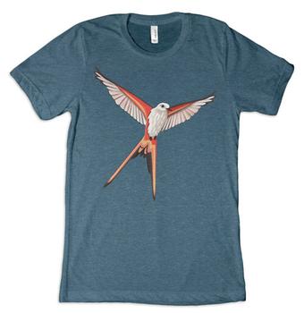 Wingspan: T-shirt - Scissor-Tailed Flycatcher, Steel Blue board game