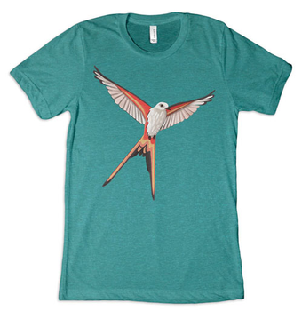 Wingspan: T-shirt - Scissor-Tailed Flycatcher, Teal board game