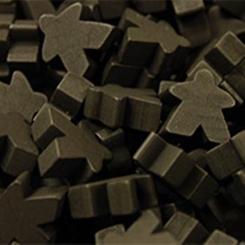 Black Super Mega Meeples (24mm) board game