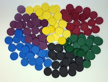 """150-piece Set of Discs (15mm x 4mm) - """"Downgrade"""" for Age of Steam"""