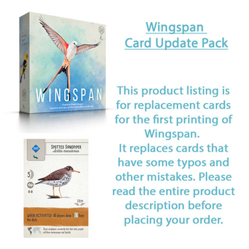 Wingspan: First Printing Card Update Pack board game