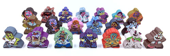 Character Meeple Set for I Hate Zombies! (20 pcs)