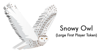 Wingspan: European Expansion - Large Snowy Owl First Player Token