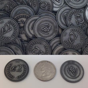 24-Piece Set of Metal Lira Coins (Silver Color)