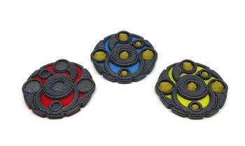 Keyforge: 3D Printed Multicolor Starter Set Upgrade Kit (3 pieces)