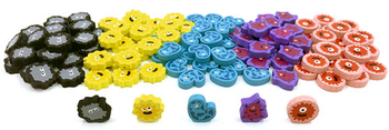 120-Piece Character Germ Set (Compatible with Pandemic and expansions)