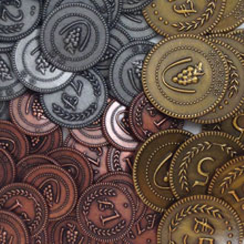Set of Custom Metal Lira Coins (72 pcs) - (Stonemaier Games)