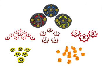 3D Printed Multicolor Upgrade Kit for Keyforge Core Set (42 pieces)