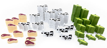 Dwarven Farmer Resource Set (90 pcs) - Perfect for Caverna!