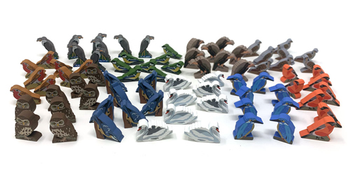 Wingspan: European Expansion - Bird Meeples, 80-piece set