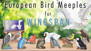 Wingspan: European Expansion - Painted Bird Meeples