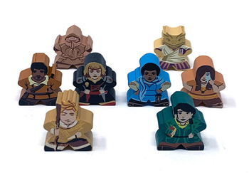Character Meeples for Near and Far (8 pcs)