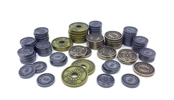 Set of Metal Coins for Yokohama (78 pcs) - (Tasty Minstrel Games)