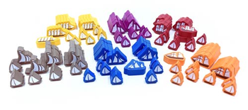 96-Piece Set of Large and Small Boats for Indonesia