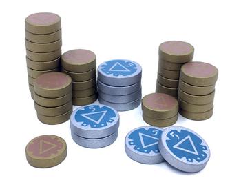 40-Piece Wooden Coin Set for Islebound