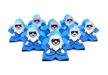 Codenames: Blue Agent Character Meeple