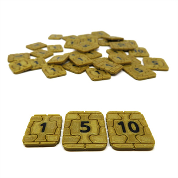 3D Printed Upgrade Kit for Underwater Cities - Coins Only (35 pieces)