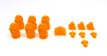 3D Printed Upgrade Kit for Tzolk'in - 5th Player Pack (14 pieces)