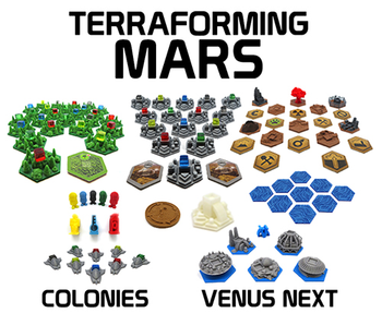 Terraforming Mars: 3D Printed Upgrade Kit (83 pieces)