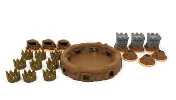 3D Printed Upgrade Kit for Root Underworld Expansion (19 pieces)