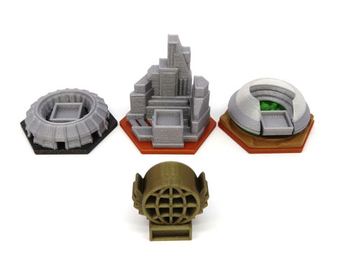 3D Printed Upgrade for Terraforming Mars Turmoil Expansion (4 pieces)