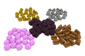Cooper Island: 3D Printed Upgrade Kit (100 pieces) board game