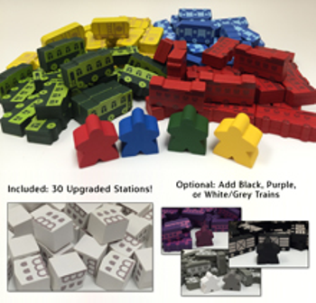 Trains (and/or Trains: Rising Sun) Upgrade Kit (114 pcs)