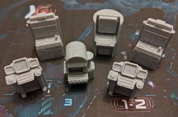 Nemesis: 3D Printed Computers (Set of 6) board game