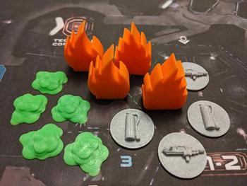 Nemesis: 3D Printed Game Goodies (13 piece set) board game
