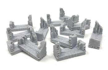 3D Printed Destroyed Doors for Nemesis (12 piece set)