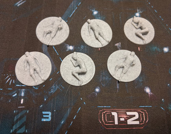 Nemesis: 3D Printed Dead Body Tokens (Set of 6)