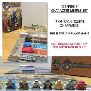 Orléans: Character Meeples (125-piece Set, 5 players)