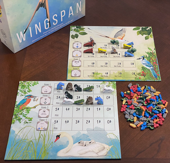 Wingspan: Double-Sided Wrapped-Edge Goal Board board game
