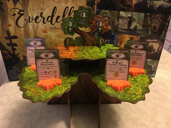3D Printed Leaf Event Card Holders for Everdell (set of 6)