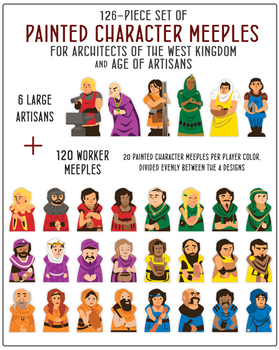 Architects of the West Kingdom: Character Meeples (126-piece Set)
