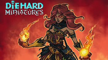 Diehard Miniatures: Wizards and their Magics! board game