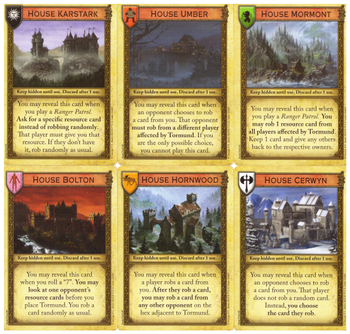A Game of Thrones: Catan – Brotherhood of the Watch: Minor Houses of the North Promo board game