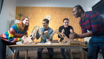 ARMPAL: World's First 3D Wooden Assembly Tabletop Game board game