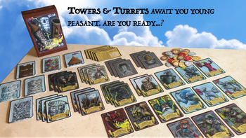 Towers and Turrets: Tabletop card game board game