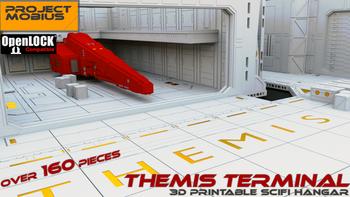 Themis Terminal: 3D Printable Sci-fi Hangar board game