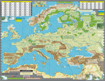 Unconditional Surrender! Mounted Mapboards (2nd Edition) board game